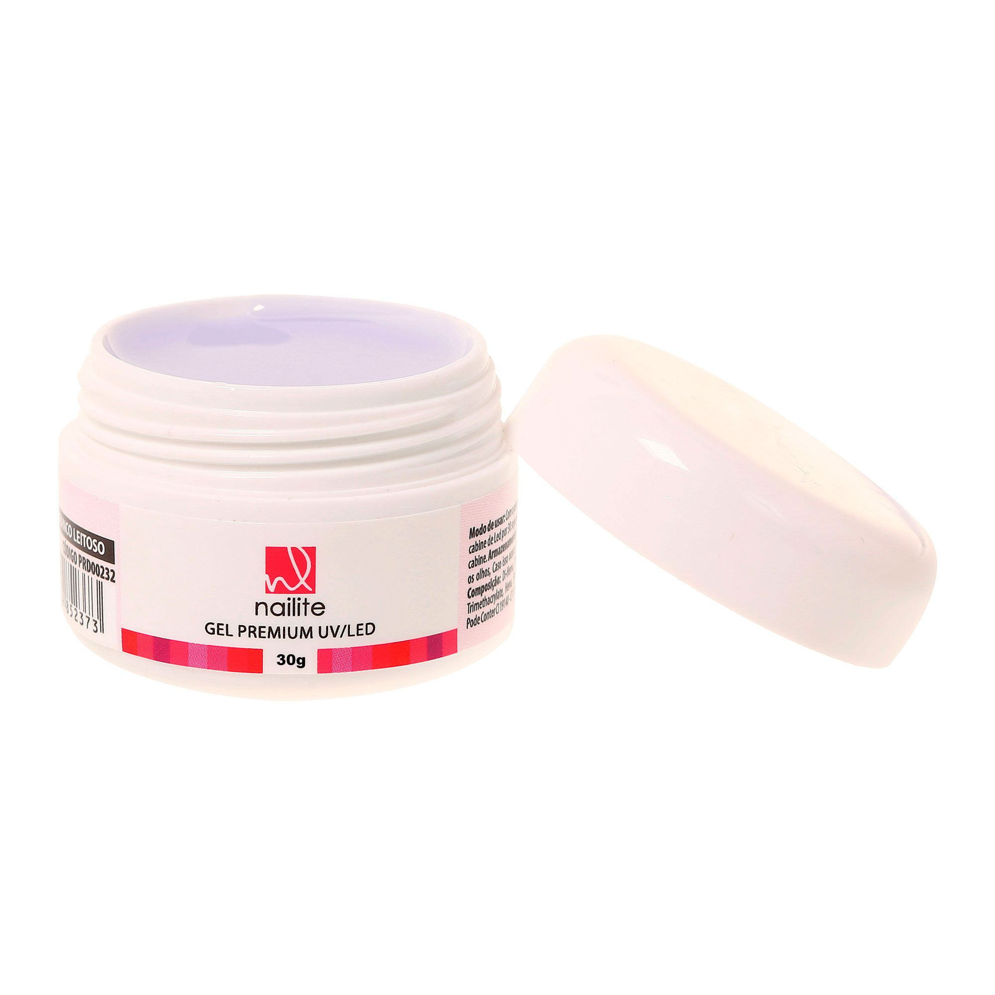 Gel Premium Nailite Uv/Led 30g Branco Leitoso