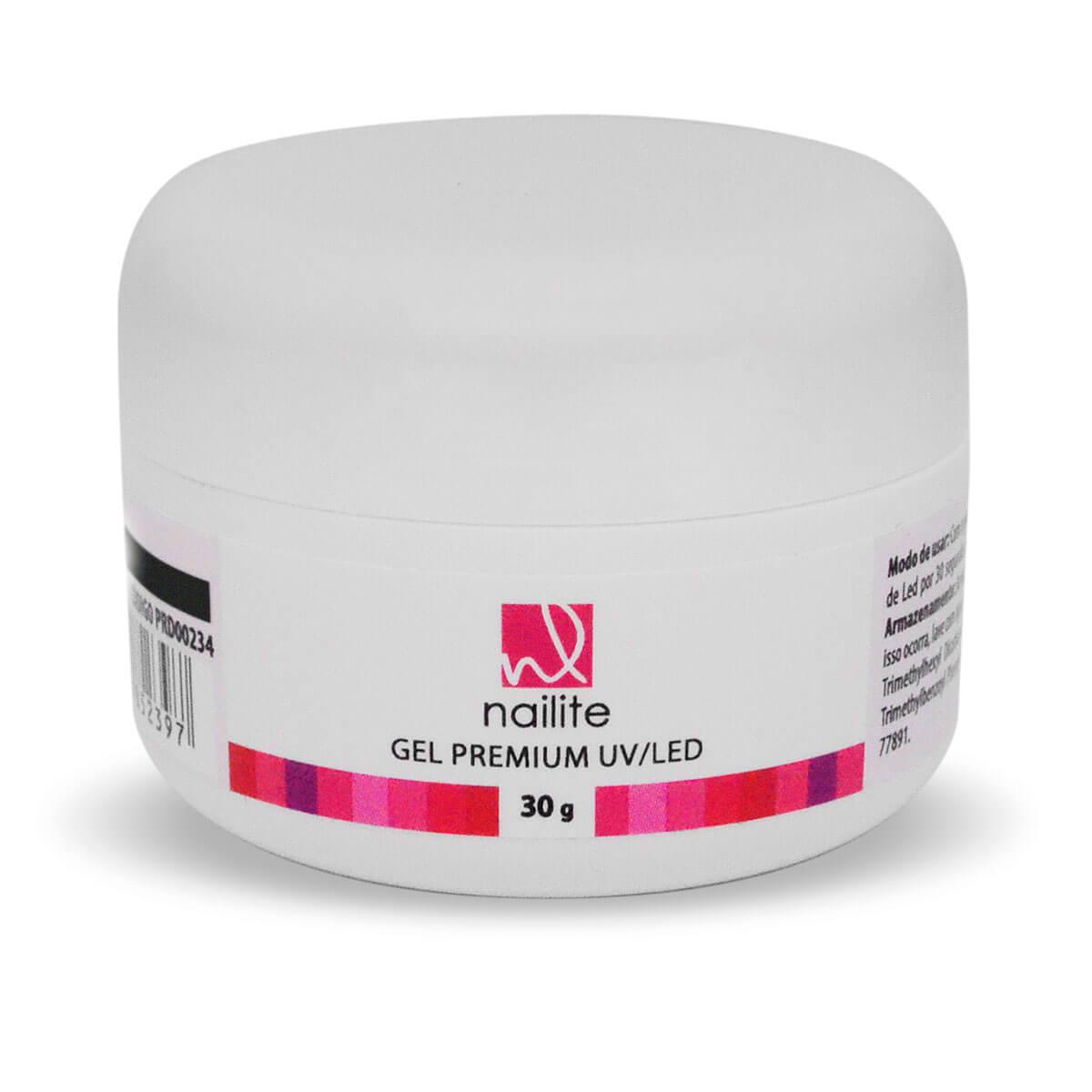 Gel Premium Nailite Uv/Led 30g Azul Translúcido
