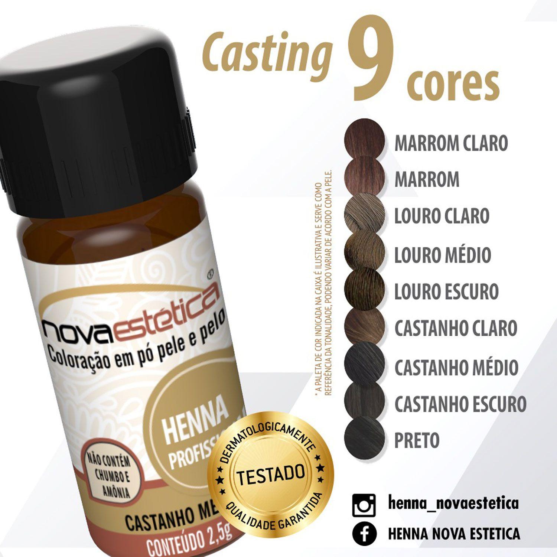 Henna Profissional Nova Estética para Sobrancelha 2,5g