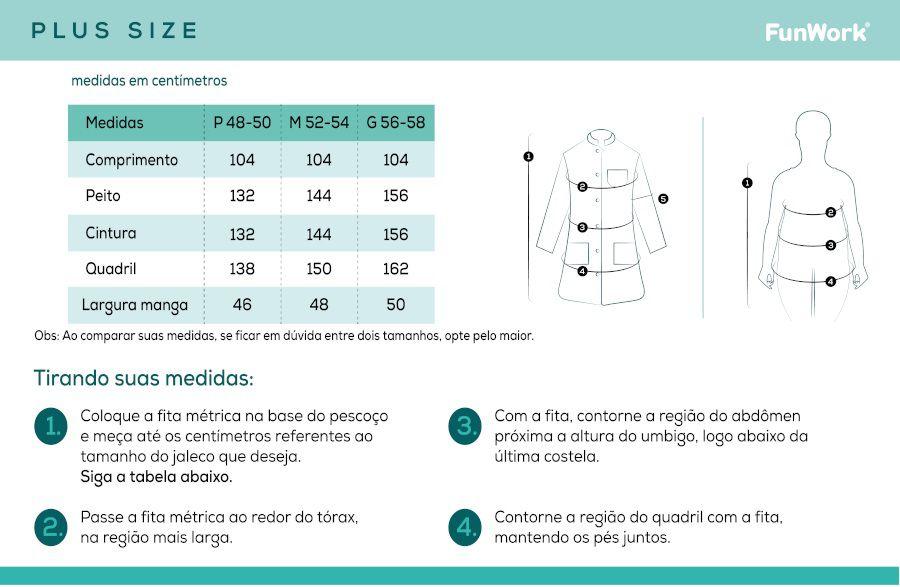 Jaleco Masculino Plus Size Unik FunWork