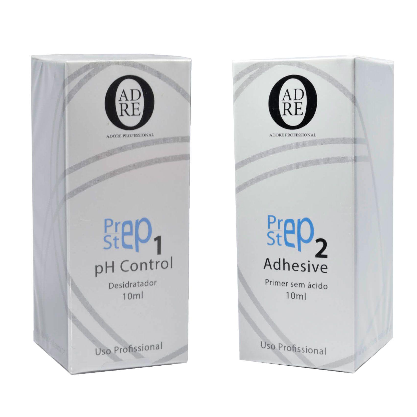Kit Adore Desidratador Step 1 Ph 10ml + Primer Step 2 10ml