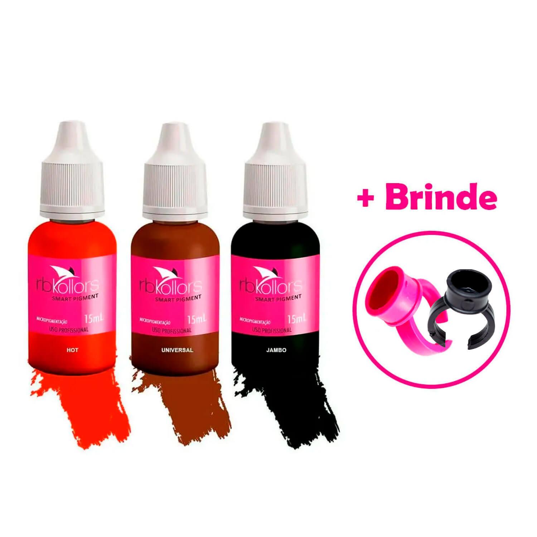 Kit Pigmento Rb Kollors 15ml Jambo + Universal + Hot