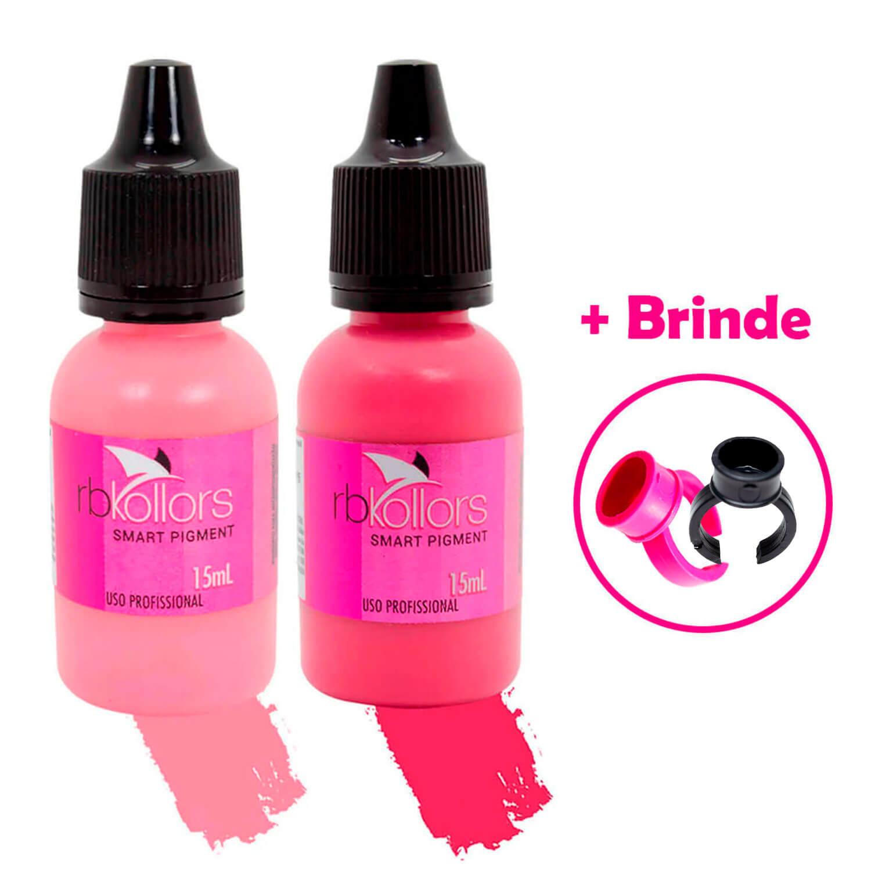 Kit Pigmento Rb Kollors Para Lábios Penélope + Darling 15ml