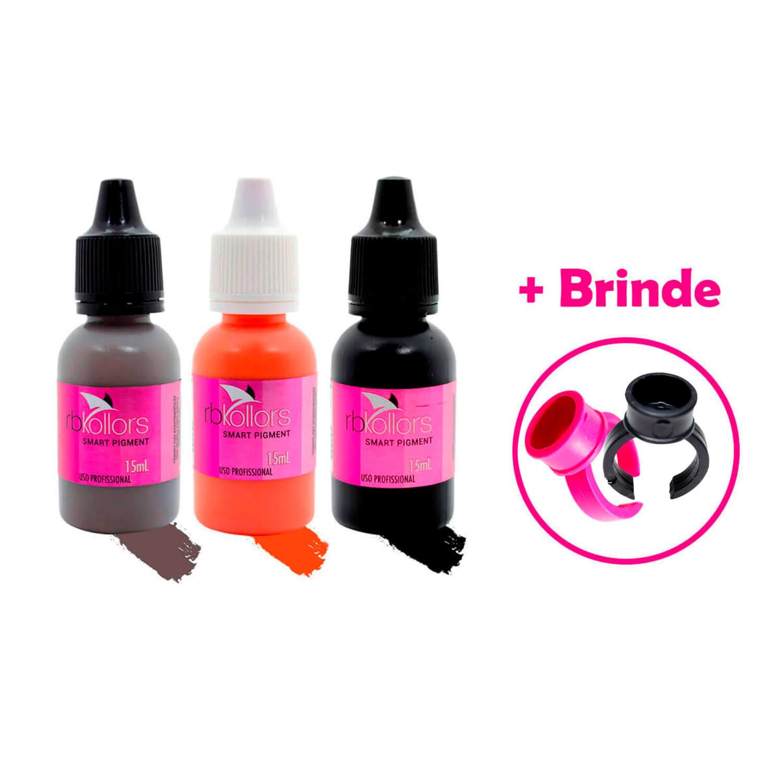 Kit Tríade Pigmento RB Kollors Blond Light + Hot + Jamblack