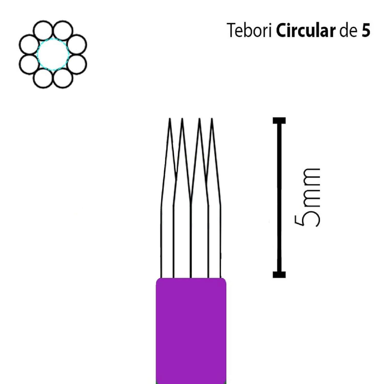 Lâmina Flox Tebori Circular 5 Pts c/ Anvisa - Kit 20 Un.
