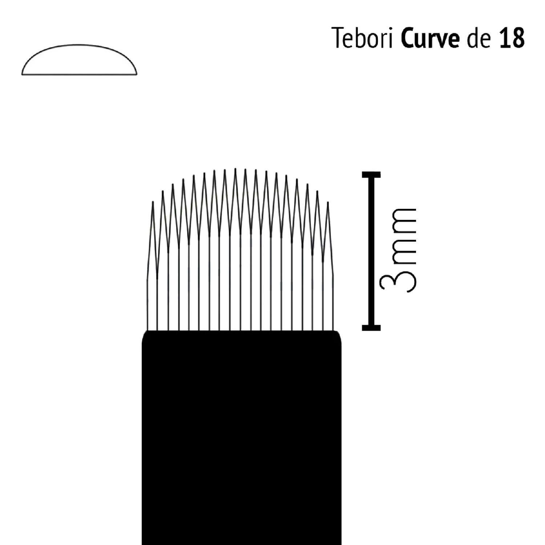 Lâmina Flox Tebori Curve 18 Pontas com Anvisa