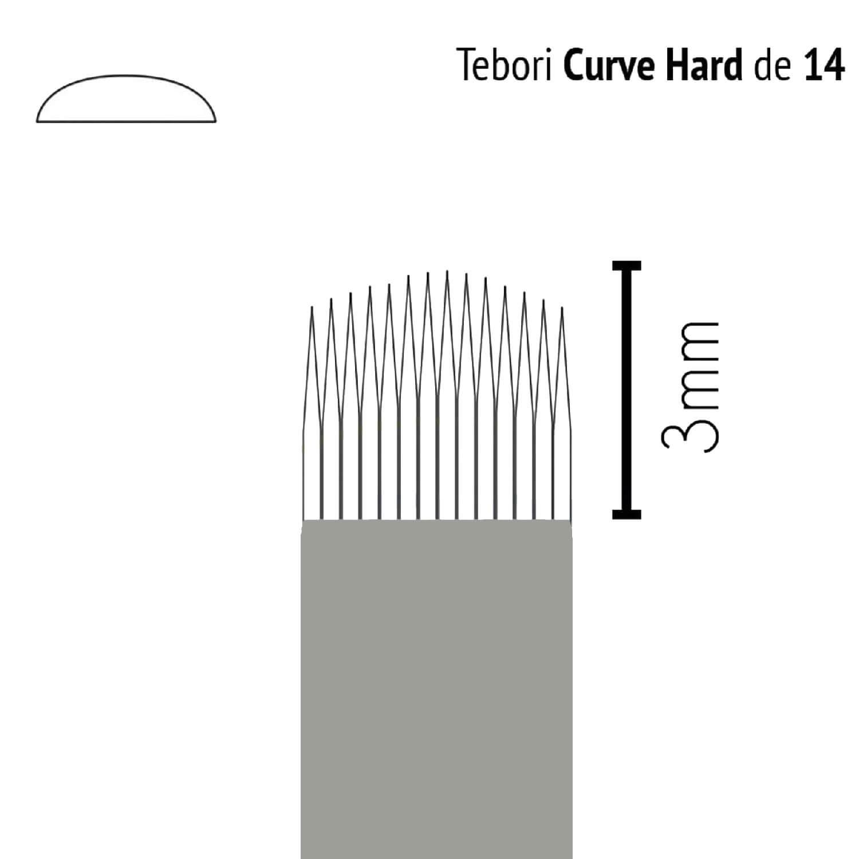 Lâmina Flox Tebori Curve Hard 14 Pontas com Anvisa