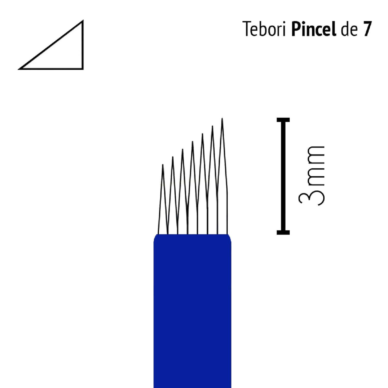 Lâmina Flox Tebori Pincel 7 Pontas com Anvisa
