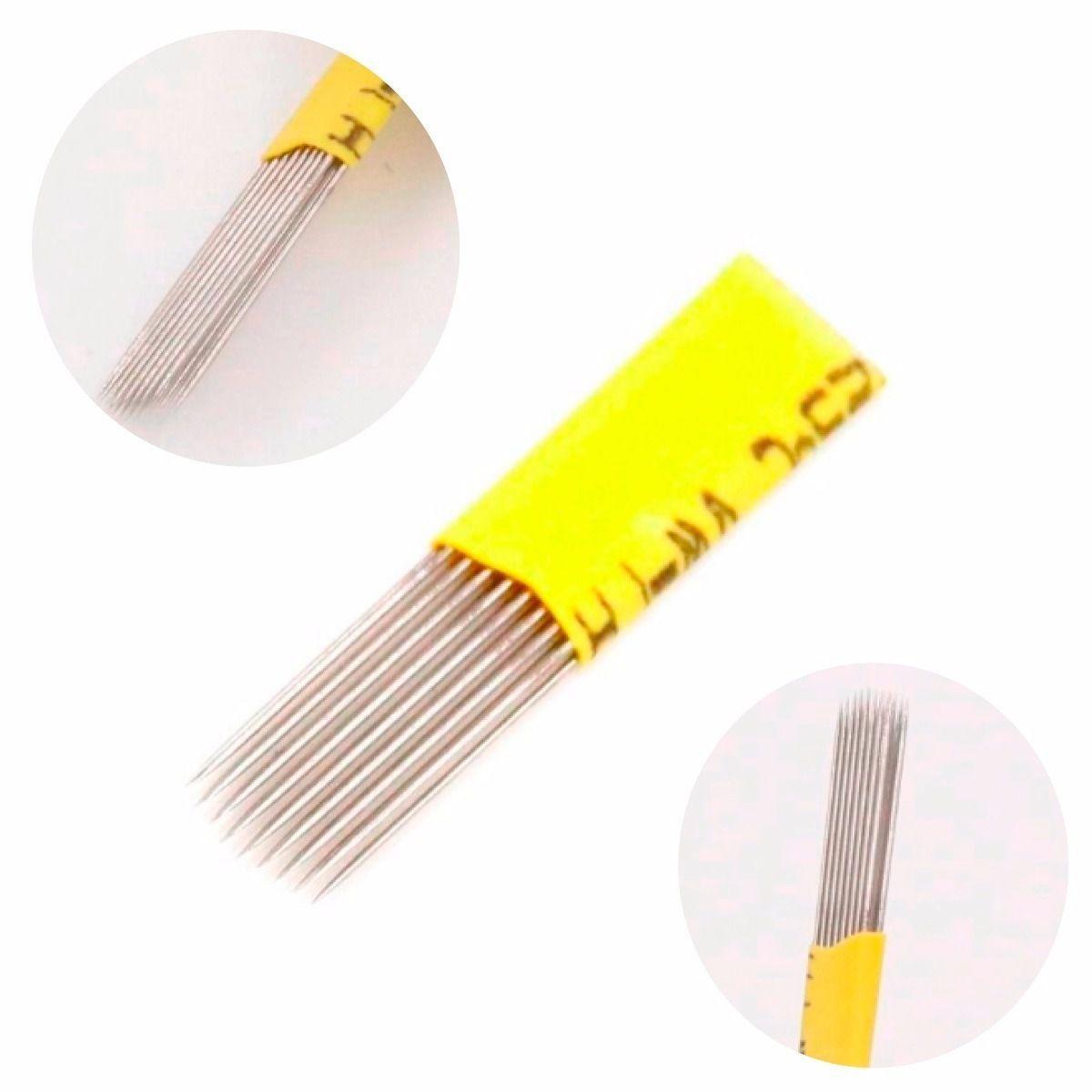 Lâmina Tebori Double Line Plana 0.25mm Kit 5un