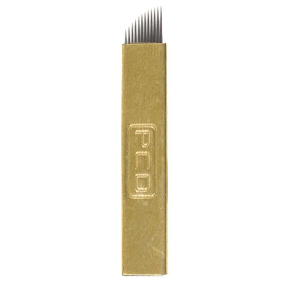 Lâmina Tebori Hard Chanfrada 0.18mm Kit 5un
