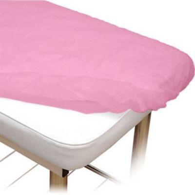 Lençol Descartável Protdesc Rosa 40g com Elástico 10un