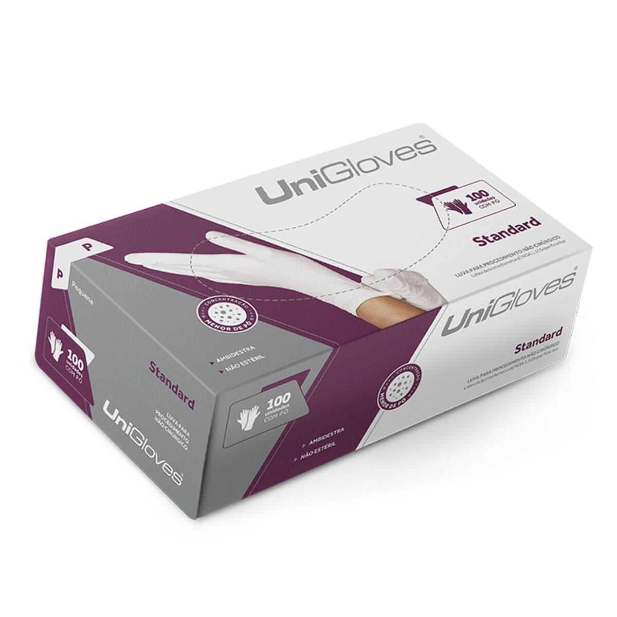 Luva Unigloves Látex com Pó Standard