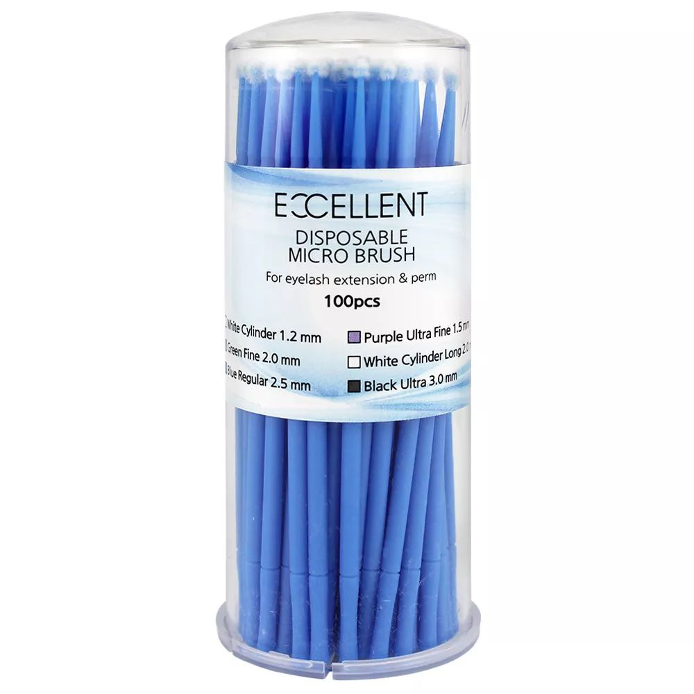Microbrush para Extensão de Cílios 2.5mm Azul Excellent