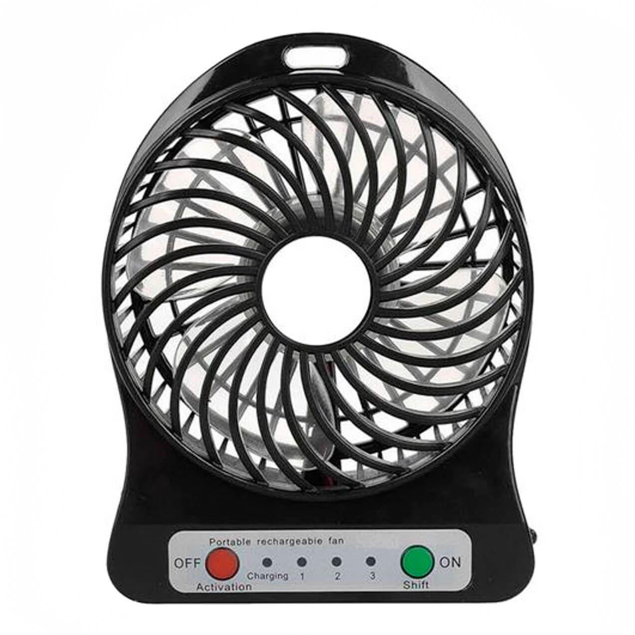 Mini Ventilador Portable Fan USB Recarregável