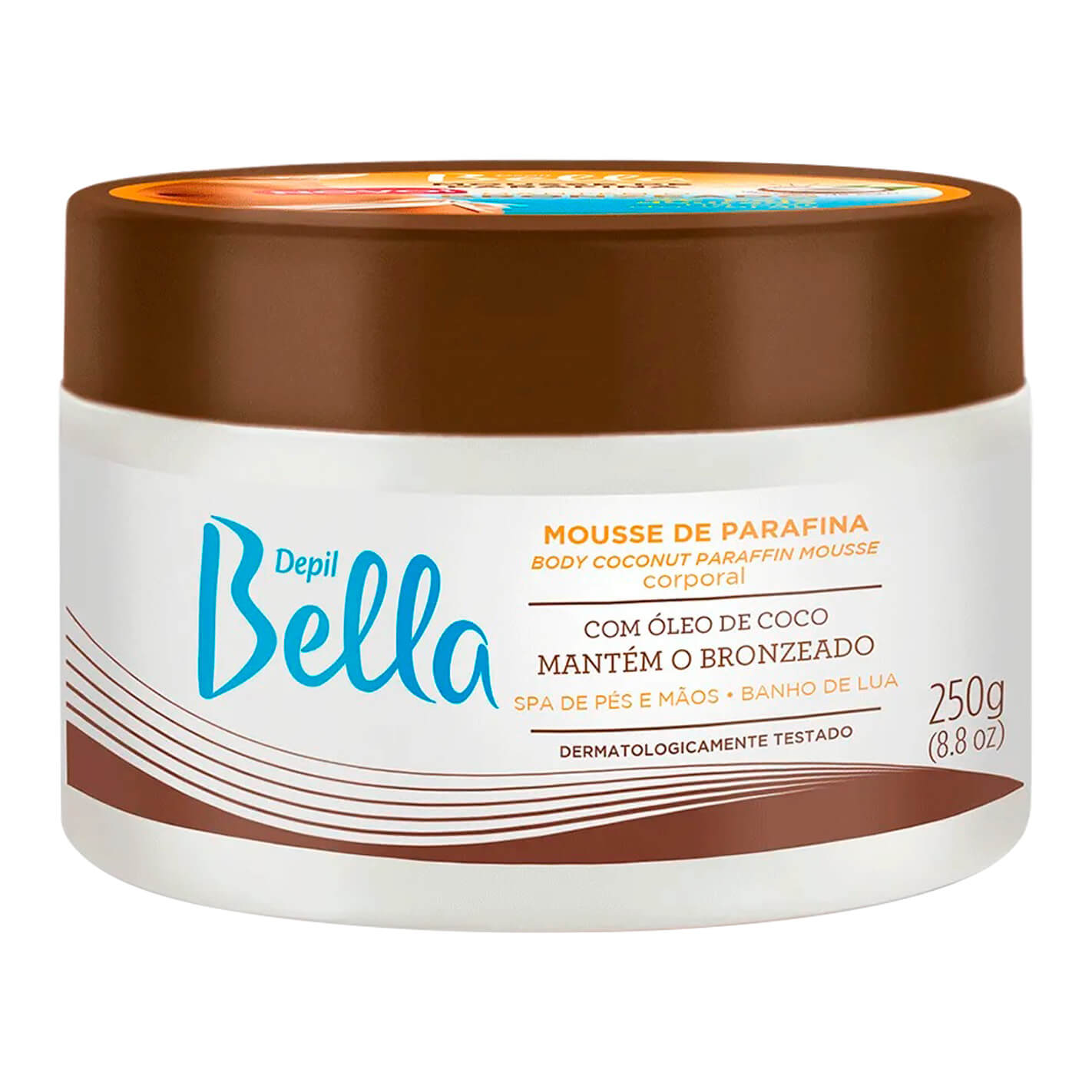 Mousse de Parafina Com Óleo de Coco Depil Bella 250g