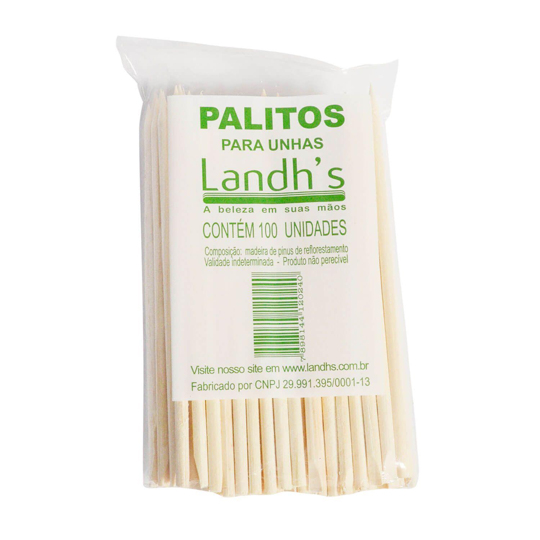 Palito Landh's para Unhas 100un