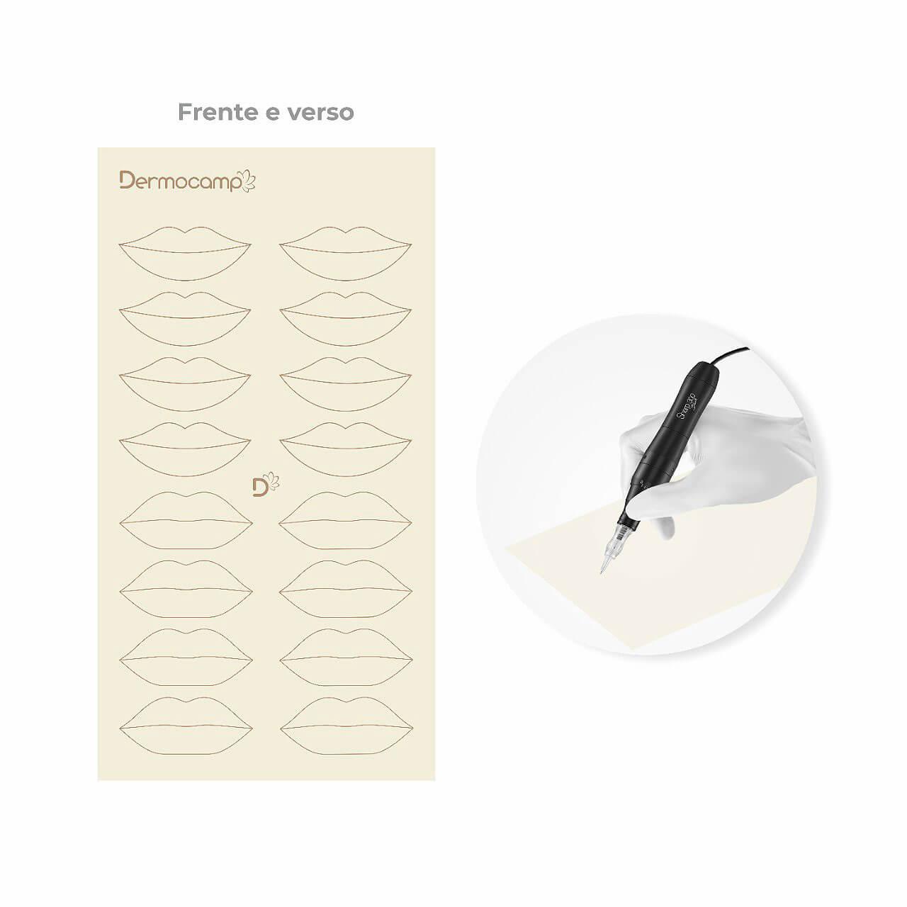 Pele Artificial Dermocamp Com Desenho Lábios Mod 07