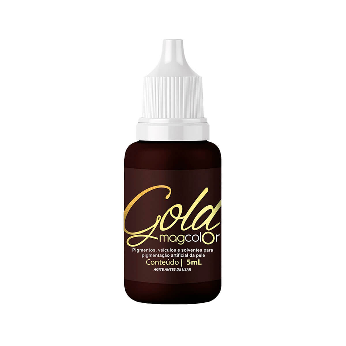 Pigmento Mag Color Gold 5ml Castanho Escuro Intenso