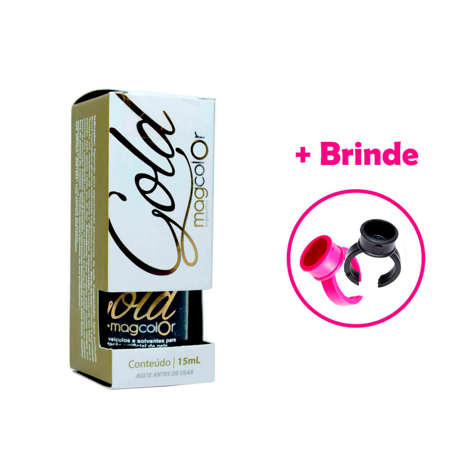Pigmento Mag Color Gold 5ml Pink