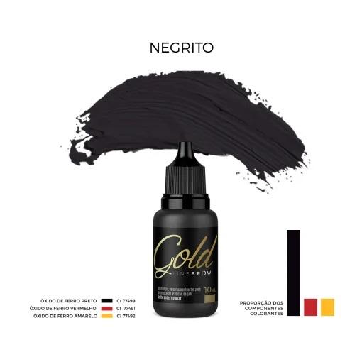Pigmento Mag Color Gold Line Brow 15ml Negrito