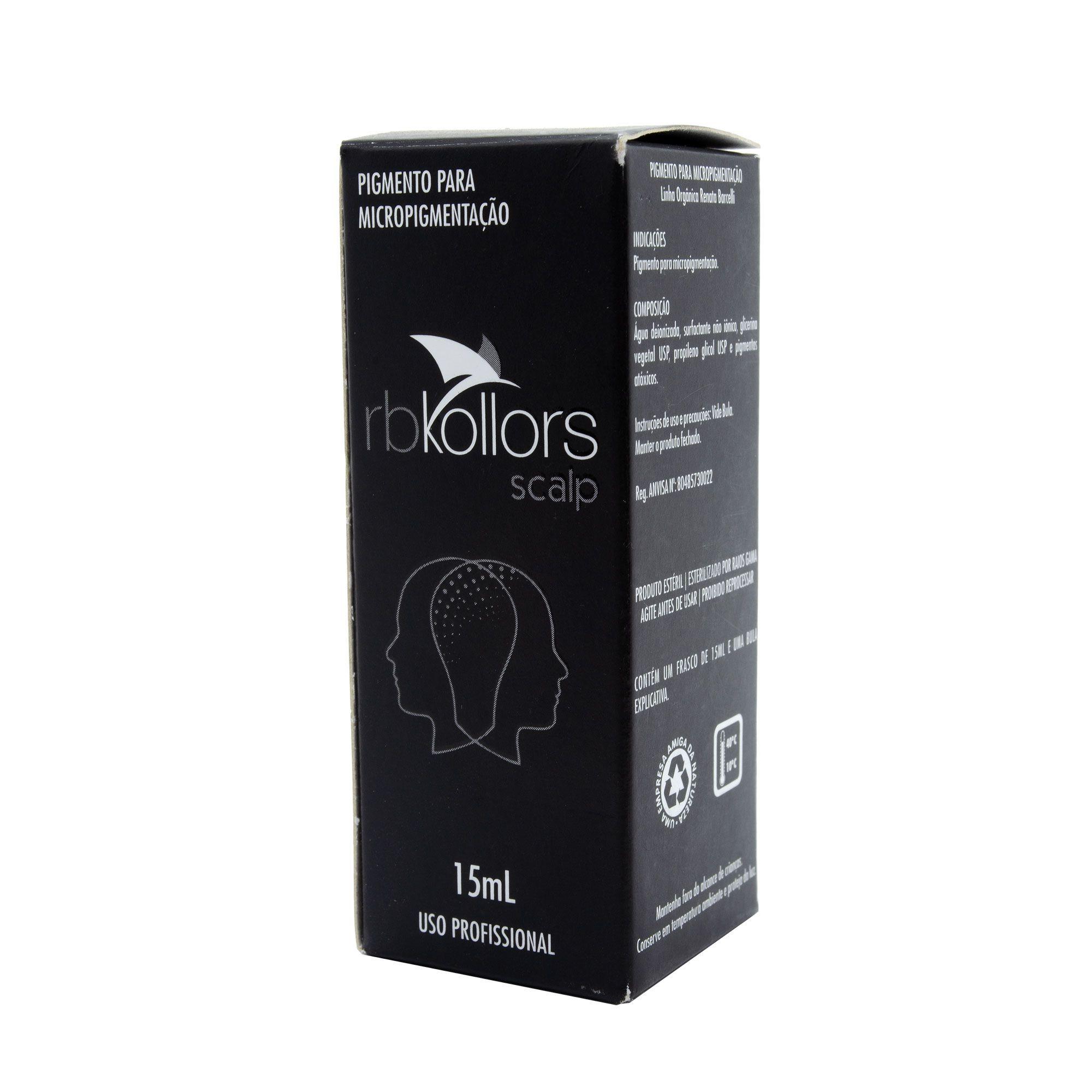 Pigmento Rb Kollors para Micropigmentação 15ml Cores