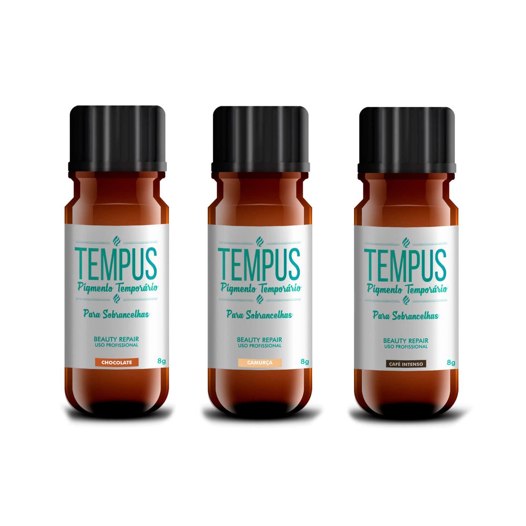 Pigmento Temporário Tempus RB Kollors 4g Kit 03 cores