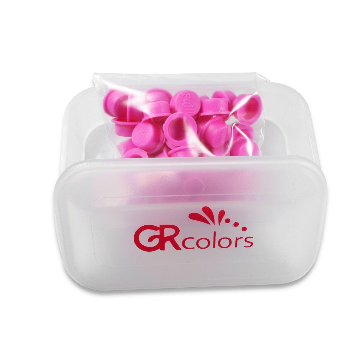 Porta Batoque GR Colors com 50 Batoques Rosa