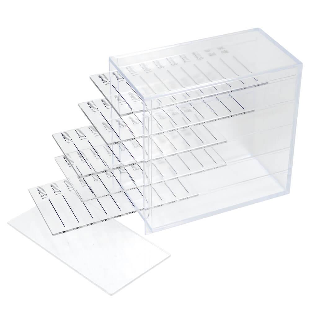 Porta Cílios Lash Box em Acrilico Organizador 5 Placas