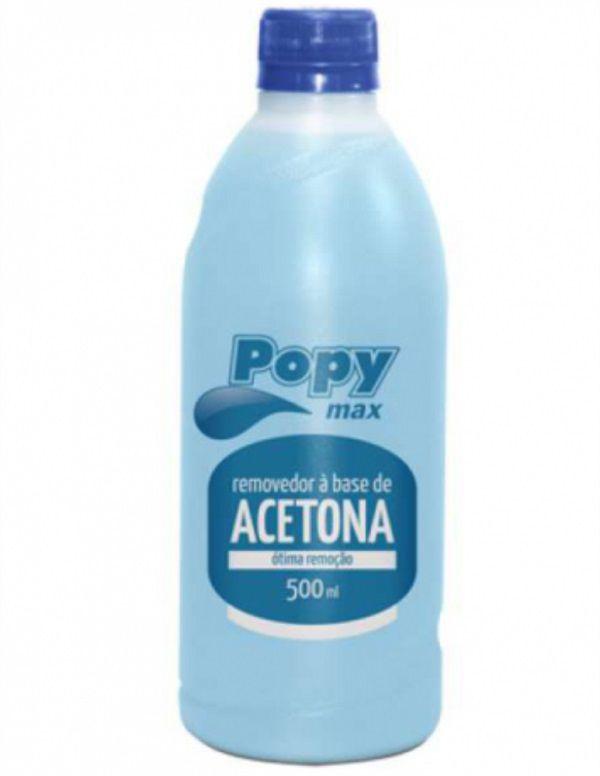 Removedor de Esmalte com Acetona Farmax Popy 500ml
