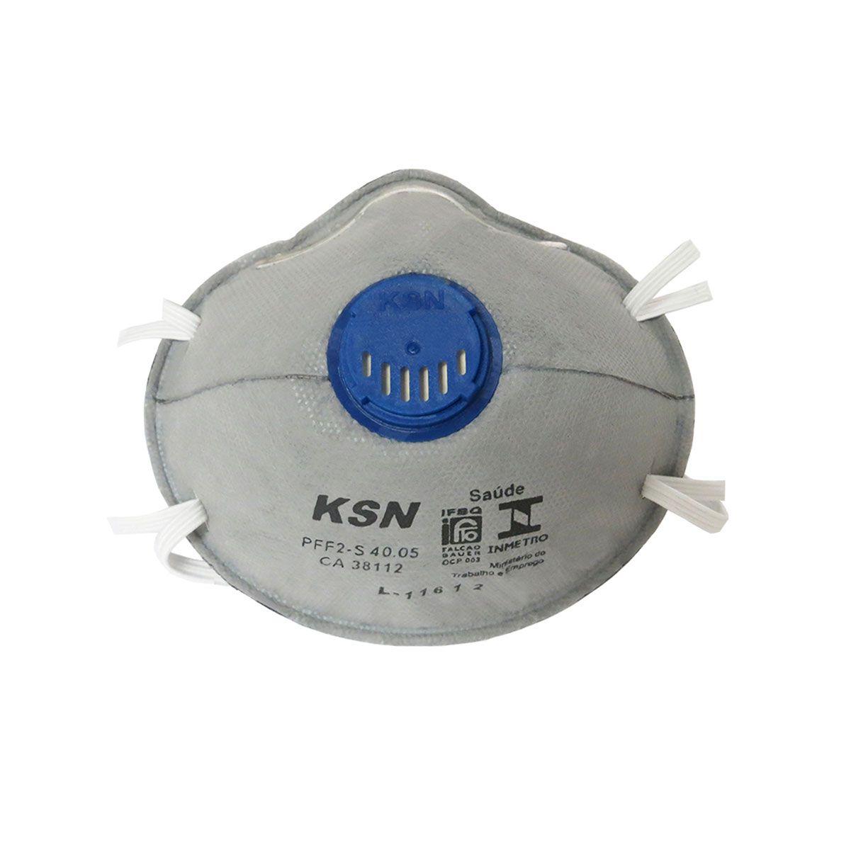 Respirador Concha Ksn Carvão Ativado Pff2S com Válvula