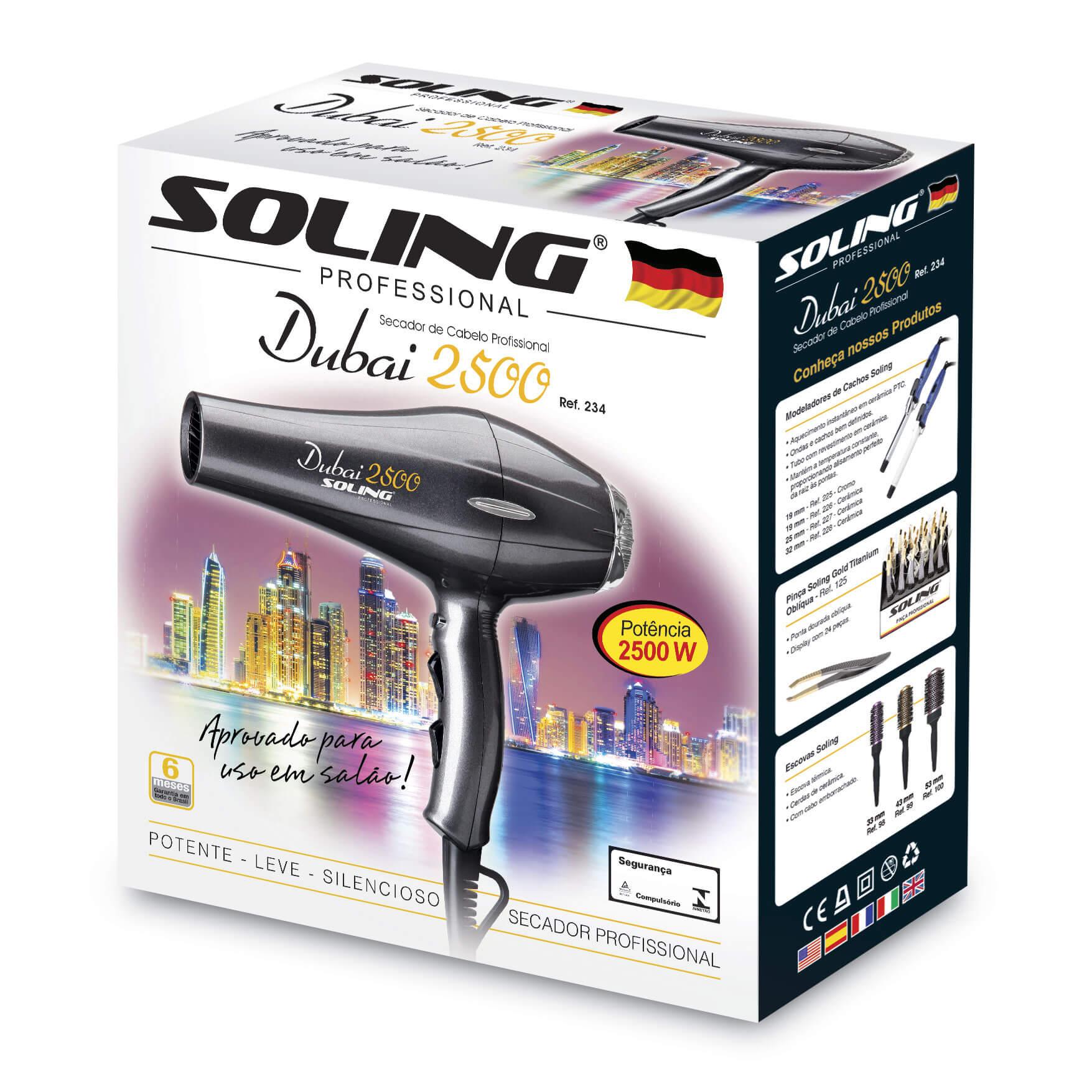 Secador de Cabelo Soling Dubai 2500