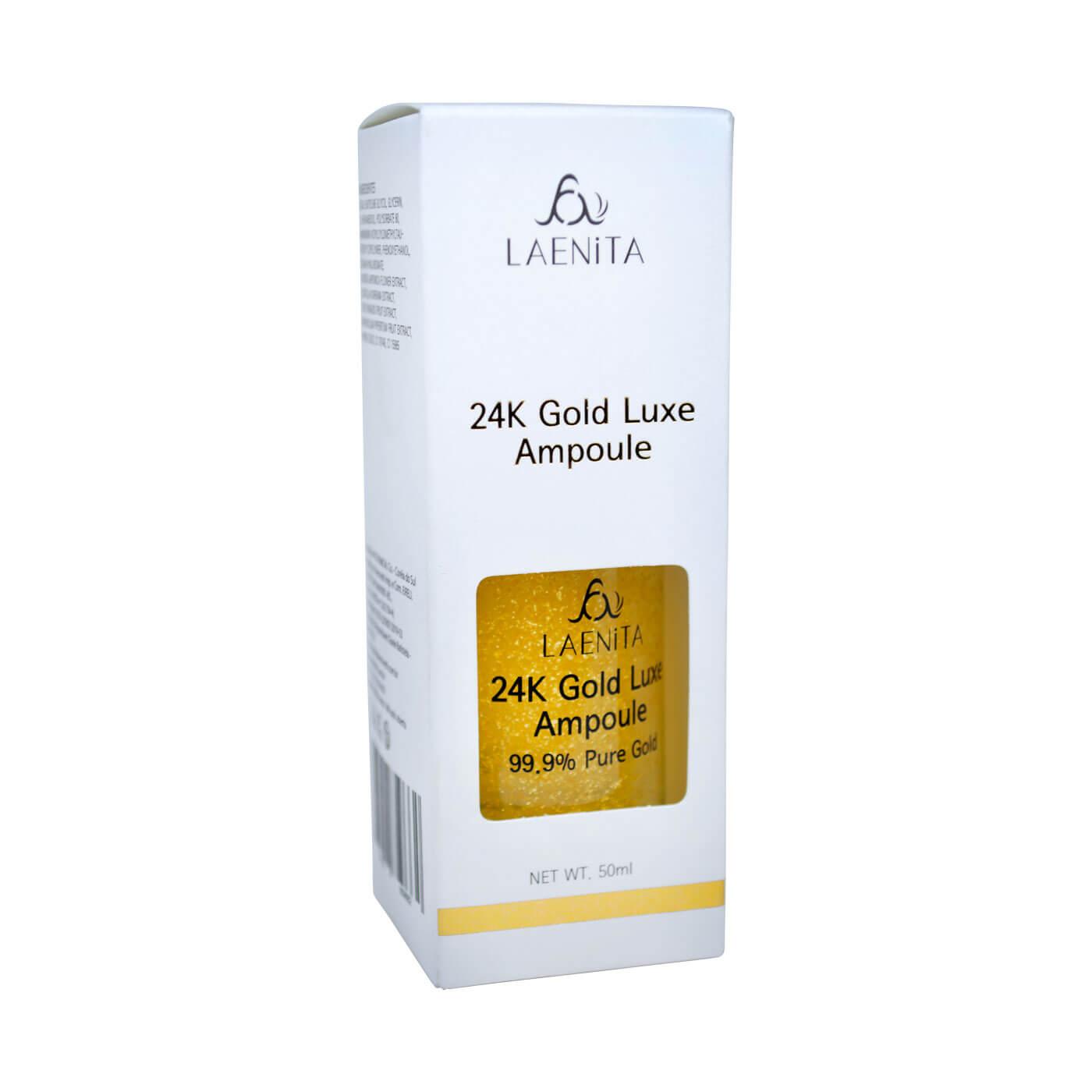 Serum Facial Laenita 24K Gold Luxe Ampoule