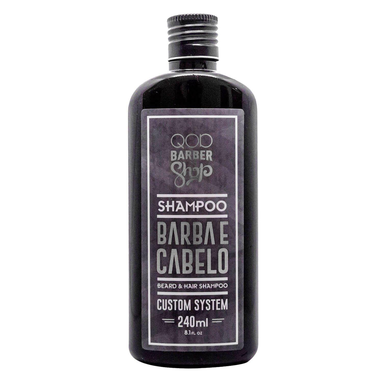 Shampoo Barba e Cabelo QOD Barber Shop 240ml