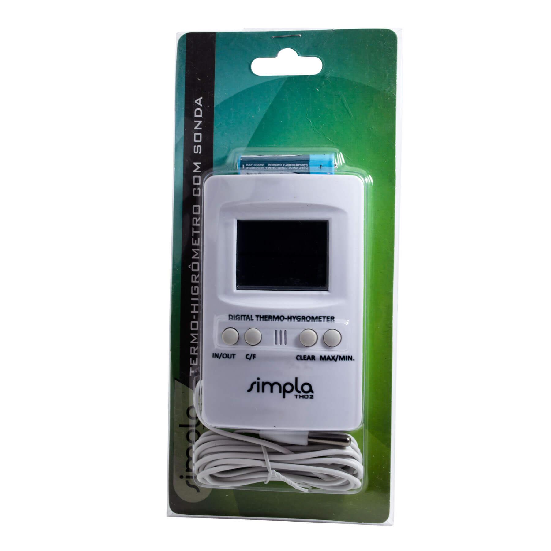 Termo-Higrômetro Akso Com Sonda Externa Simpla TH02