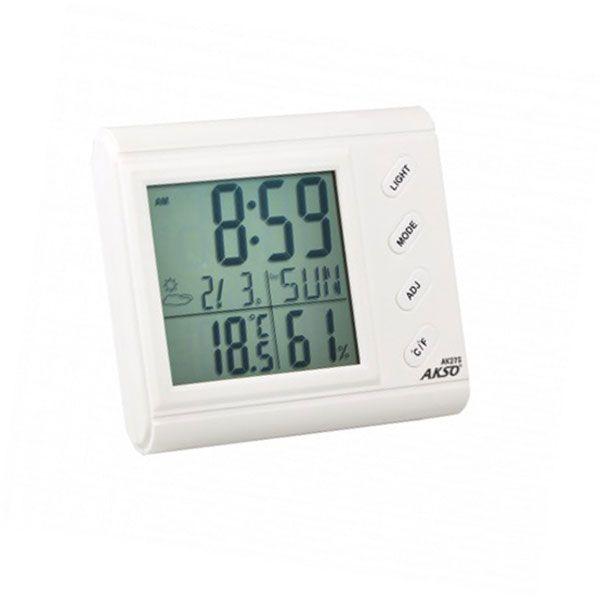 Termo Higrômetro Digital Akso com Relógio e Alarme