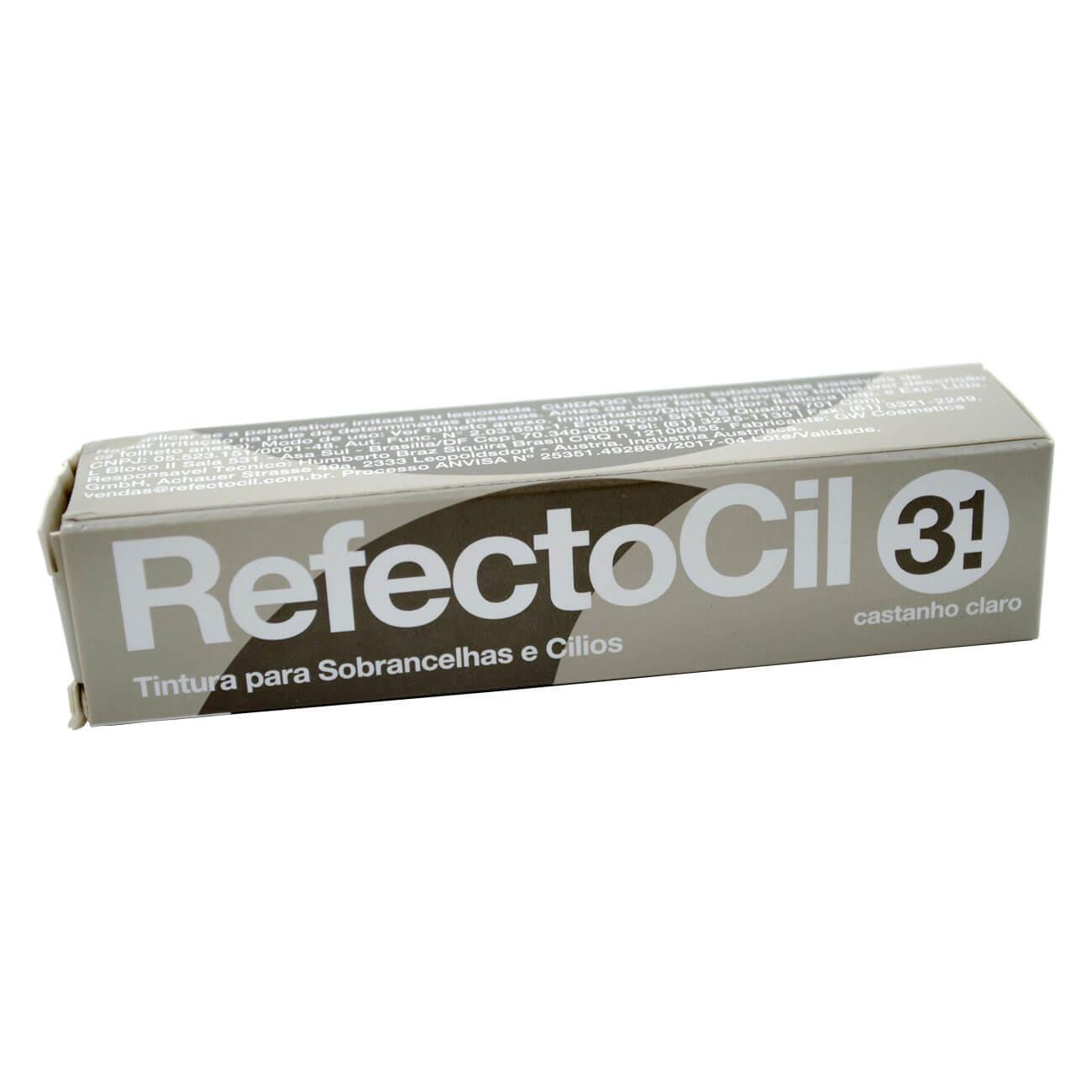 Tintura Refectocil para Cílios e Sobrancelhas Castanho Claro 3.1