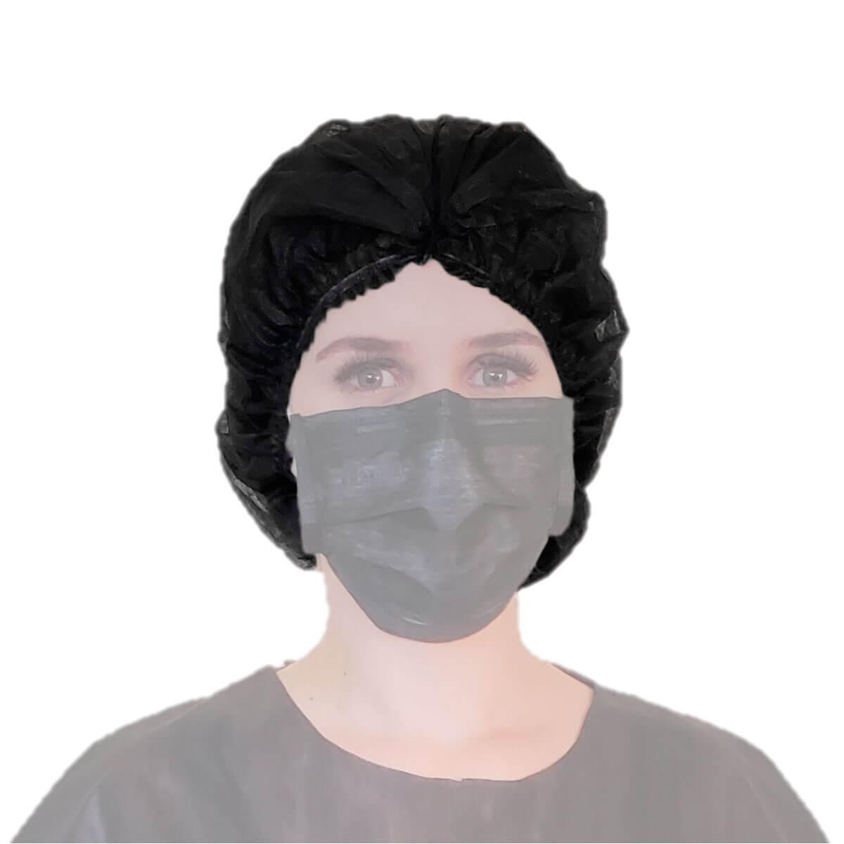 Touca Descartável Protdesc Black 100un