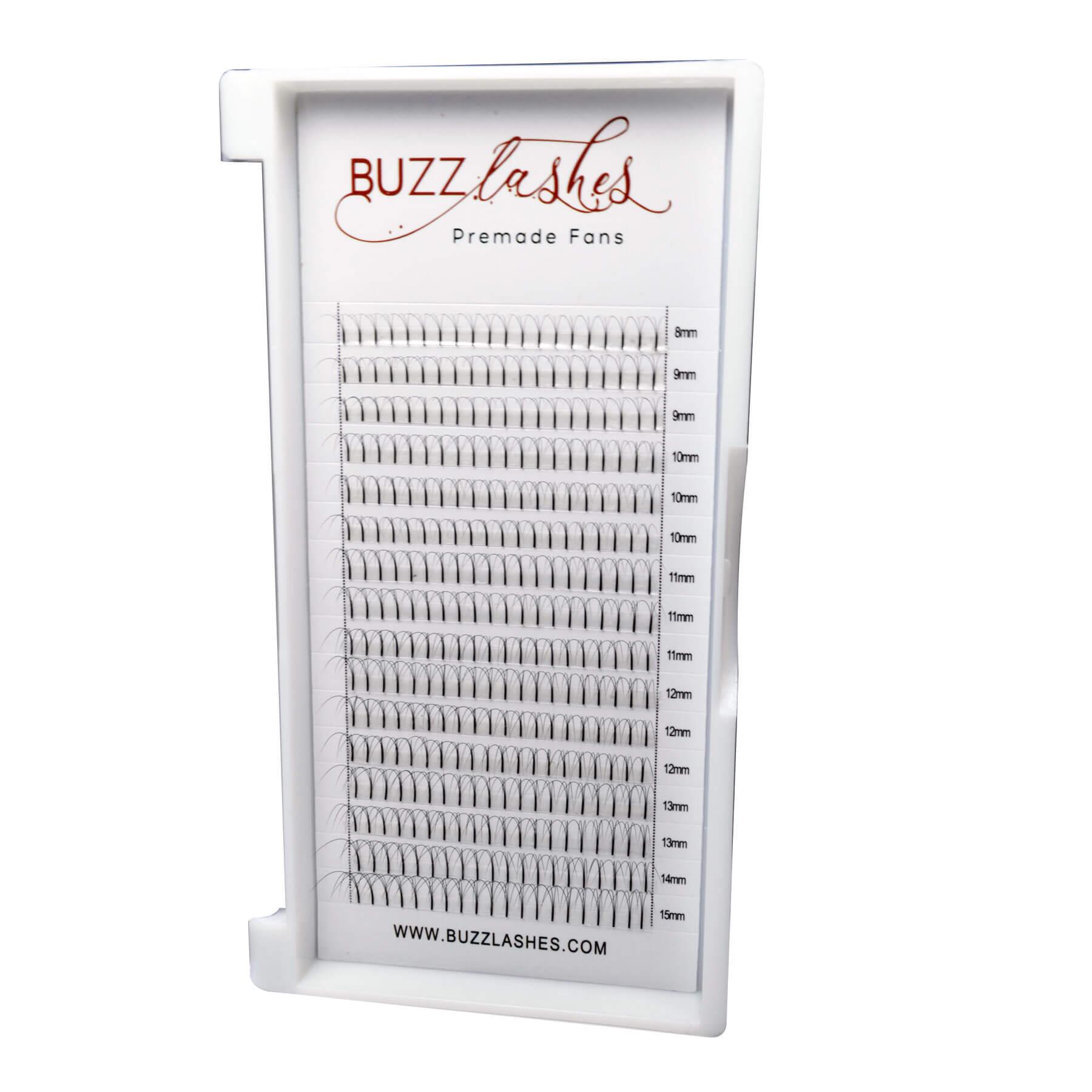 Tufos Buzz Lashes Premade 3D Fans Espessura 0.07mm