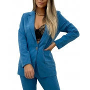 Blazer Alfaiataria Azul
