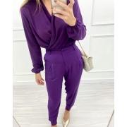 Blusa Transpasse Purple