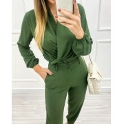 Blusa Transpasse Verde