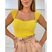Blusa Tricô Amabile Amarelo