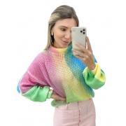 Blusa Tricô Arco-Iris