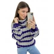 Blusa Tricô Maxi Gola