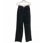 Calça Jeans Wide Leg Black