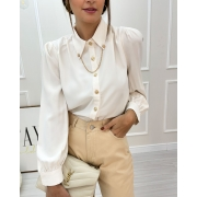 Camisa Bufante Eva Off-White