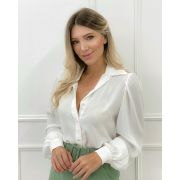 Camisa Manga Bufante Off-white
