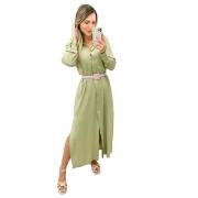 Camisa Vestido Longa Verde