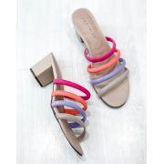 Sandália Mule Tiras Colors