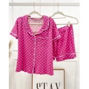 Pijama Rosa de Poá Infantil